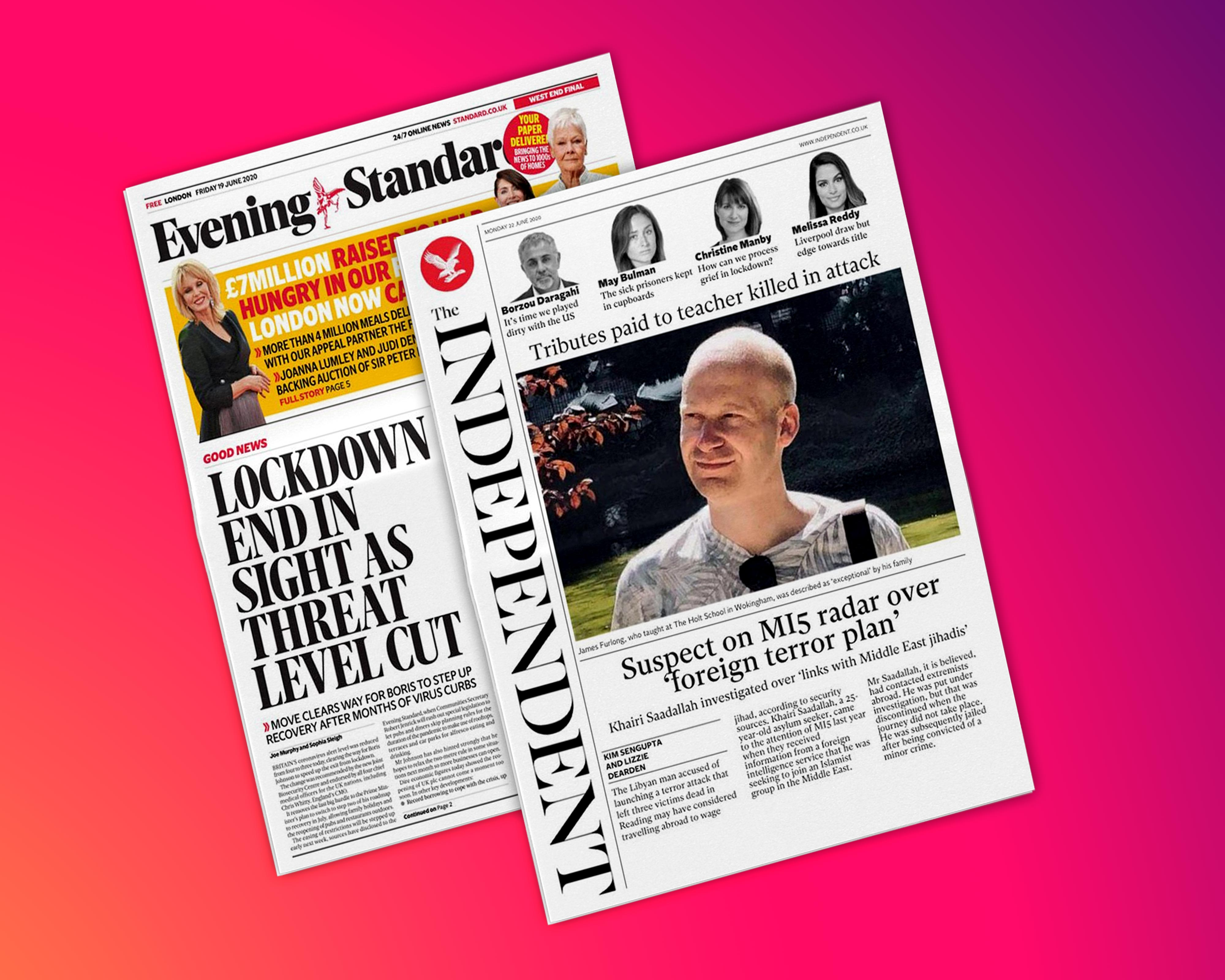 Read The Independent and the Evening Standard now on Magzter Image