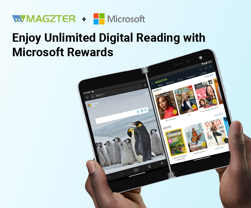 Magzter to offer Magzter GOLD to Microsoft Rewards Members Image